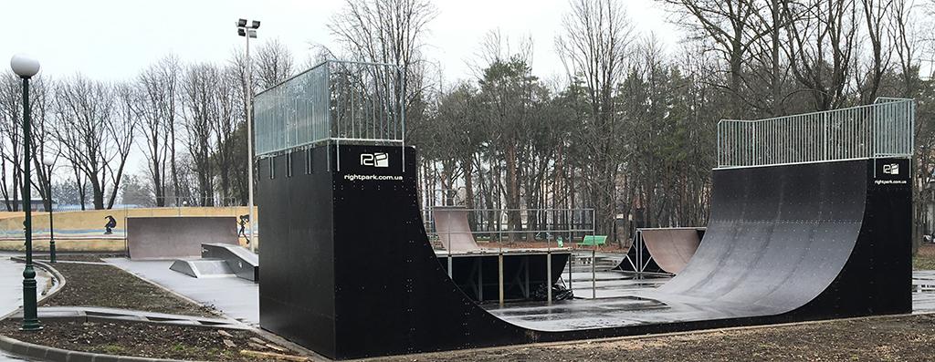 Новая рампа в парке Горького, Харьков (2-я часть реконструкции скейт-парка)