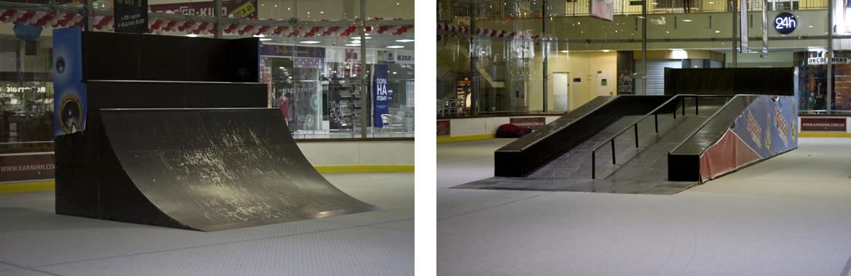 Скейтпарк в ТРЦ Караван Киев - фигуры