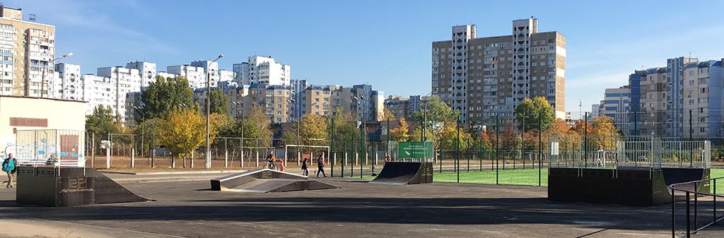 Скейт-парк и минирампа Киев школа 259